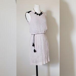Jennifer Lopez  Pink and Black Tie Waisted Dress